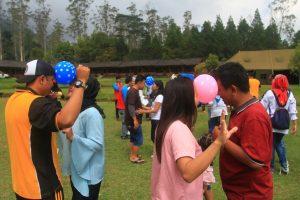 Suasana gembira mewarnai acara Family Gathering yang digelar oleh Polsek Ciwidey di eMTe Higland Resort J. Raya Ciwidey Rancabakj KM 11 Kec. Rancabali Kab. Bandung, Sabtu (29/7)