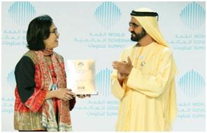 Sri Mulyani dan Perdana Menteri UEA Sheikh Mohammad bin Rashid Al Maktoum.