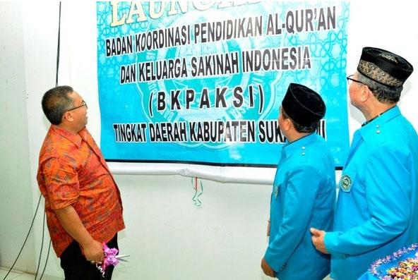 Bupati Marwan Hamami pada Launching BKPAKSI Kab. Sukabumi, Sabtu (10/02).