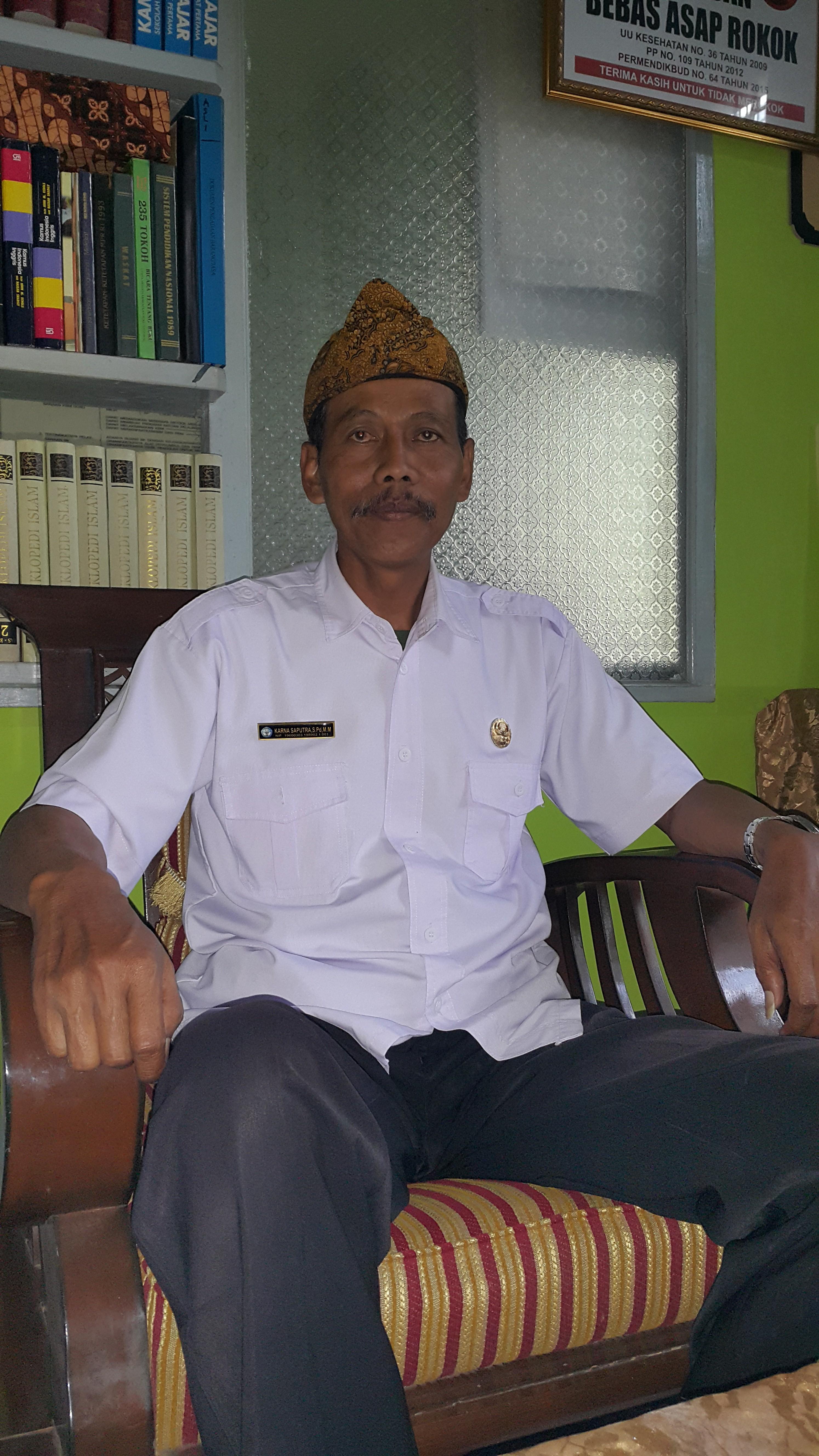 Ketua Gugus III SMP Karna Saputra SPd, MM
