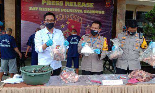 Polresta Bandung Akan Usut Tuntas Kasus Daging Babi di Pasar Baleendah dan Majalaya