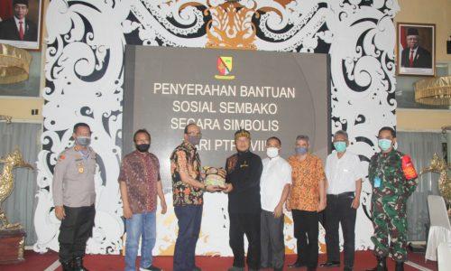 PTPN VIII Peduli Covid 19, Serahkan Bantuan Sembako kepada Bupati Bandung