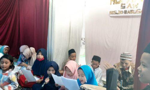 Melihat Keceriaan Anak di Acara Maulid Nabi Masjid Babussalam
