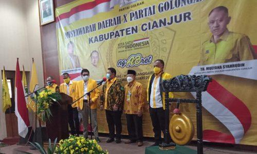 TB Mulyana Berpeluang Pimpin Kembali Golkar Cianjur