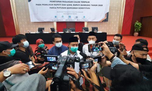Menang 56 Persen di Pilkada, Dadang – Sahrul Gunawan Pimpin Kabupaten Bandung 2021 2026