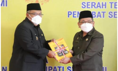 Barnas Adjidin Jadi PJS Sekda Sukabumi, Marwan Ucapkan  Terima kasih Kepada Adjo Sardjono