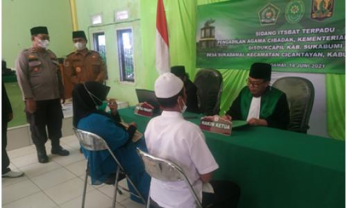 Mewakili Bupati Sukabumi, Camat Cicantayan Membuka Sidang Itsbat Terpadu di Sukadamai