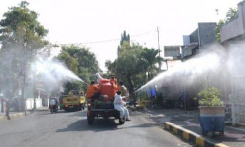 Ikhtiar Menekan Covid-19, Pemkab Cianjur 'Gejrot' Lagi Jalanan Dalam Kota