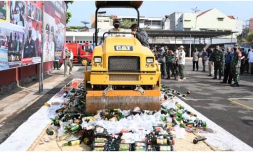 Ribuan Botol Miras dan Obat Daftar G Dimusnahkan, Wabup: Cianjur Harus Bebas Narkoba dan Miras