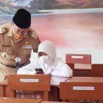 Kunjungi Sejumlah Sekolah, Bupati Cianjur Monitoring Pelaksanaan PTM